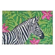 Liora Manne Frontporch Zebra Garden Indoor Outdoor Rug