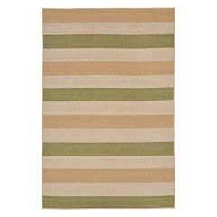 Liora Manne Terrace Multi Stripe Indoor Outdoor Rug