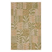 Liora Manne Terrace Box Leaves Indoor Outdoor Rug