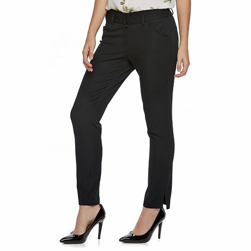 Juniors' Candie's® Scalloped-Pocket Midrise Ankle Pants