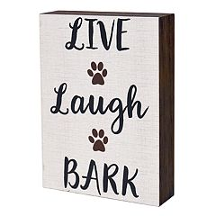 New View 'Live Laugh Bark' Wall Decor