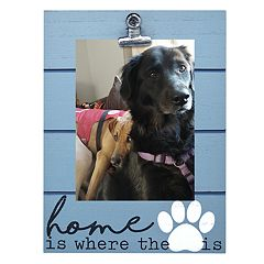 New View 'Home' Paw Print 4' x 6' Photo Clip Frame