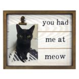 """New View """"Meow"""" 4"""" x 6"""" Photo Clip Frame"""
