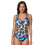 Women's Pink Envelope Printed One-Piece Swimsuit
