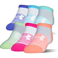 Girls 4-16 Under Armour 6-pk. Essentail No-Show Socks