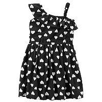 Toddler Girl Carter's Patterned Asymmetrical Dress