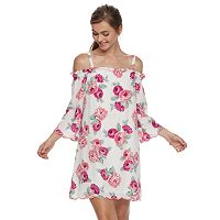 Juniors' Lily Rose Scalloped Off-the-Shoulder Dress