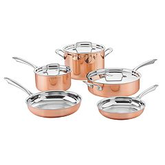 Cuisinart Copper Collection 8 pc Tri-Ply Cookware Set