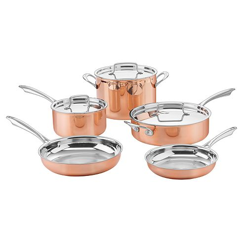 Cuisinart® Copper Collection 8-pc. Tri-Ply Cookware Set