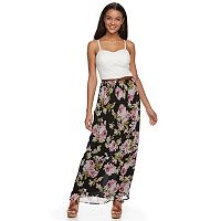 Juniors' Lily Rose Belted Maxi Dress