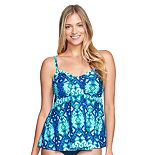 Women's Mazu Swim Empire Draped Tankini Top