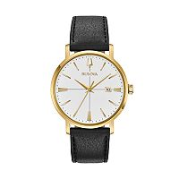Bulova Men's Aerojet Leather Watch - 97B172