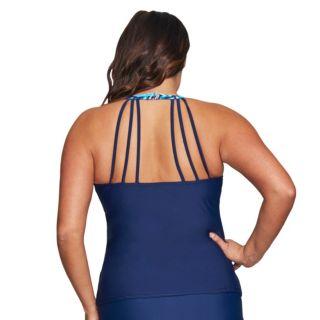 Plus Size Mazu Swim High-Neck Tankini Top