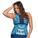 Plus Size Mazu Swim High-Neck Tankini Top
