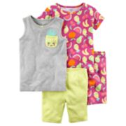 Girls 4-12 Carter's Fruit Tops & Shorts Pajama Set