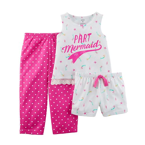 4d700c9251f7 Girls 4-14 Carter s 3-pc. Mermaid Pajama Set