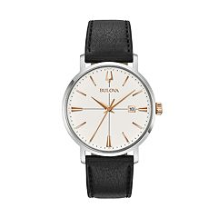 Bulova Men's Aerojet Leather Watch- 98B254