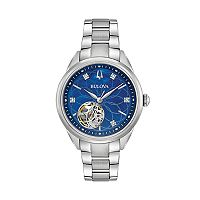 Bulova Women's Diamond Stainless Steel Automatic Watch - 96P191