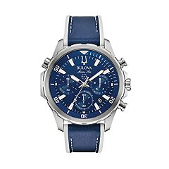 Bulova Men's Marine Star Leather Chronograph Watch - 96B287