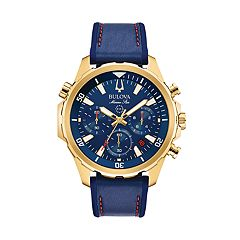 Bulova Men's Marine Star Leather Chronograph Watch - 97B168