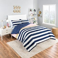 Vue Glam Stripe Reversible Comforter Set