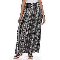 Juniors' Joe B Side-Cinch Knit Maxi Skirt