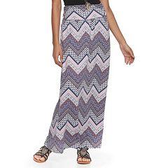 Juniors' Joe B Side-Cinch Knit Maxi Skirt