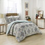 Marble Hill Ahana Reversible 3 pc Comforter Set