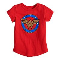 Baby Girl Jumping Beans® DC Comics Wonder Woman Glittery Graphic Tee