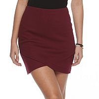 Juniors' SO® Striped Cross Front Skirt