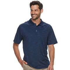 Big & Tall Haggar Cool 18® Pro Regular-Fit Space-Dye Performance Polo