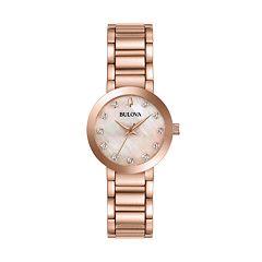 Bulova Women's Modern Diamond Stainless Steel Watch - 97P132