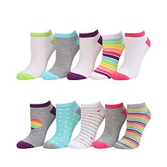 Girls 7-16 SO® 10-pack No-Show Socks