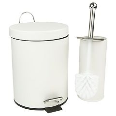 Home Basics 2-piece Toilet Brush & Wastebasket Set