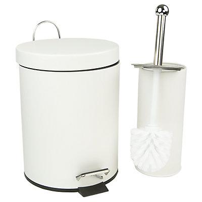 Home Basics 2-piece Toilet Brush & Wastebasket Set