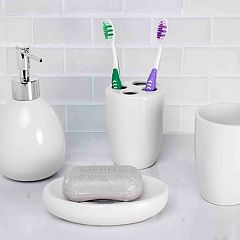 Home Basics 4-piece Bath Accessory Set
