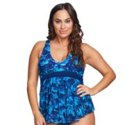Plus Size Mazu Swim Triple Tiered Tankini Top