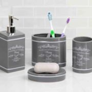 Home Basics 4-piece Paris Bath Accessory Set