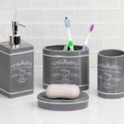 Home Basics 4-piece Paris Bath Accessory Set