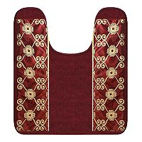 Popular Bath Elegant Rose Contour Rug
