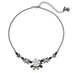 Simply Vera Vera Wang Black & White Flower Statement Necklace