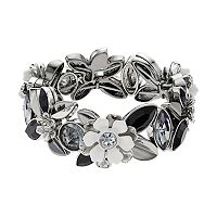 Simply Vera Vera Wang Black & White Flower Stretch Bracelet