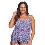Plus Size Mazu Swim Tiered Tankini Top