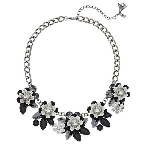 Simply vera vera wang black white flower statement necklace mightylinksfo