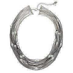 Simply Vera Vera Wang Simulated Pearl Ombre Multi Strand Necklace