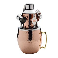 Mikasa Copper-Plated Moscow Mule Bar Set