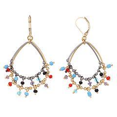 Simply Vera Vera Wang Gold Tone & Jet Bead Detail Layered Drop Earrings