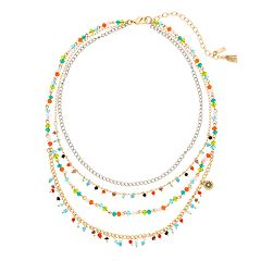 Simply Vera Vera Wang Multi Colored Stone Multi Strand Necklace