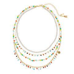 Simply Vera Vera Wang Multi Colored Stone Multi Strand Necklace