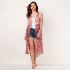 Women's LC Lauren Conrad Scattered Blooms Vest